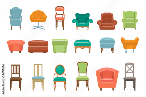 Tela Collection of different types seating