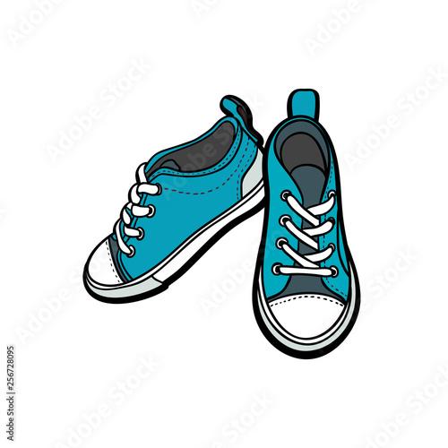 Obraz na płótnie Sneakers shoes pair isolated