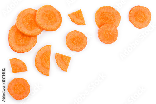 Carrot slice isolated on white background with copy space for your text Canvas Print