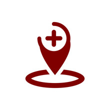 Appearance, Aspect, Design, Eye, Look, View, Creative Vision Maroon Color  Icon