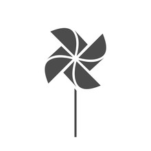 The Pinwheel Logo Flat Icon Ve...