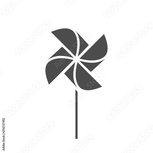 Vászonkép The pinwheel logo flat icon vector illustrations.