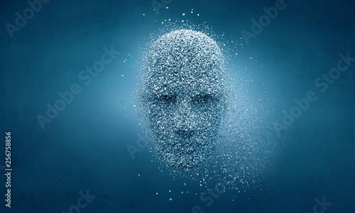 Artificial intelligence and future technologies. Mixed media Billede på lærred