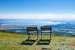 会津磐梯山から猪苗代湖を望む