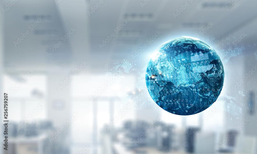 Fototapety, obrazy: International business concept. Mized media