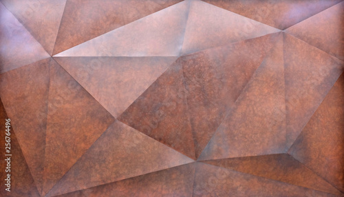 Poster Retro Abstract brown polygonal Geometric Triangle wall Background.