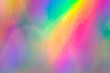 canvas print picture - a colorful hologram paper