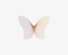 Butterfly Vector Logotype. Lin...