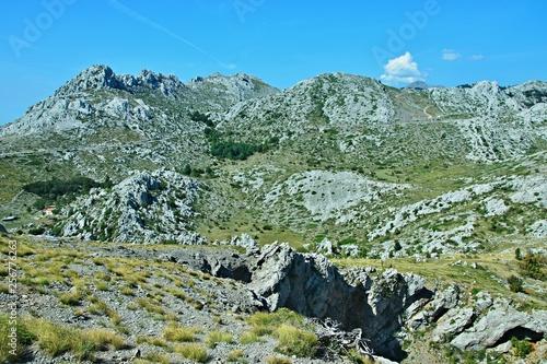 Fotografie, Obraz  Croatia-view of the rocky city of Tulove Grede in the Velebit National Park