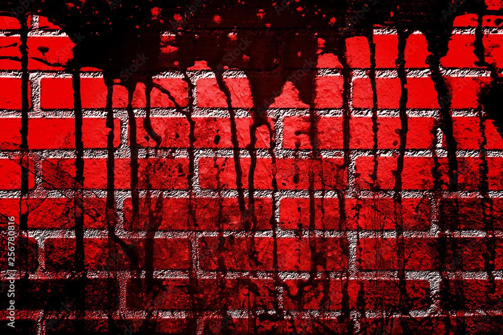 Fototapety, obrazy: bloody wall  in the dark