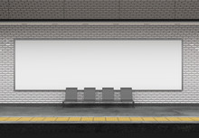 Mock Up Of An Subway Billboard...