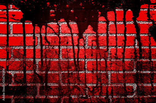 bloody wall in the dark