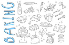Vector Set Of Hand Drawn Icons...