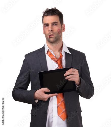 Fényképezés  Bruised business man
