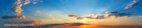 Fotografie, Tablou  Summer sunset sky panorama