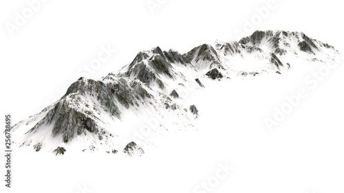 Snowy  Mountains panorama - separated on white background #256788695