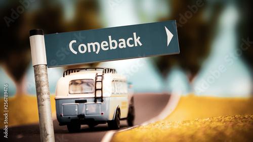 Fotomural  Sign 366 - Comeback