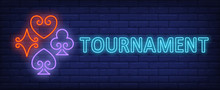Tournament Neon Text With Play...