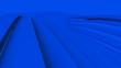 canvas print picture - Blue spline abtract background , 3d render.