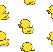 Little  Yellow Duck Seamless Pattern