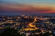 canvas print picture - Karlsruhe Skyline Nacht