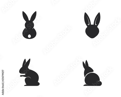Billede på lærred Rabbit Logo template vector icon illustration design