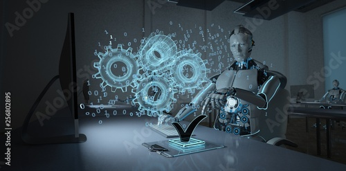 Obraz na płótnie Humanoid Robot Development Engineer