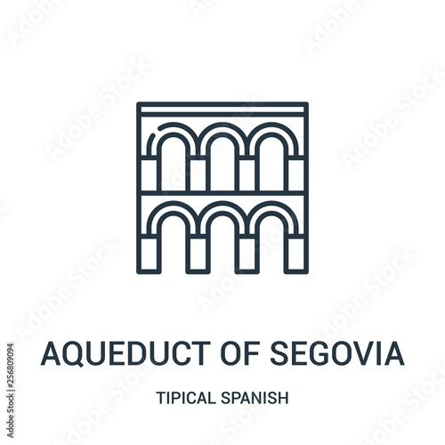 Leinwand Poster aqueduct of segovia icon vector from tipical spanish collection