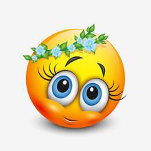 Cute Virgo Emoticon, Emoji - A...