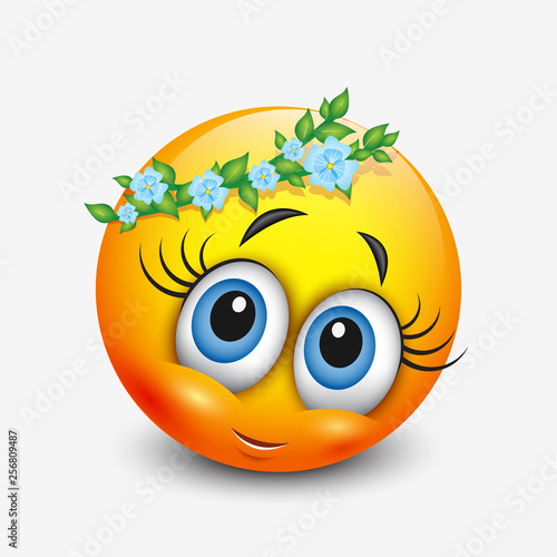 Cute virgo emoticon, emoji - astrological sign - horoscope