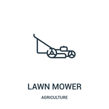 Lawn Mower Icon Vector From Ag...