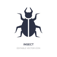 Insect Icon On White Backgroun...