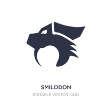 Smilodon Icon On White Backgro...