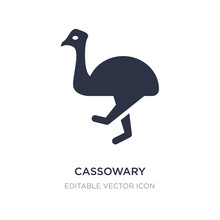 Cassowary Icon On White Background. Simple Element Illustration From Animals Concept.