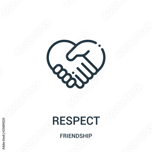 Photo respect icon vector from friendship collection