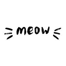 Cute Meow Cat Quotes Illustart...