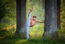 Boy  Stretching In The Park