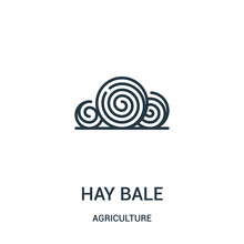 Hay Bale Icon Vector From Agri...