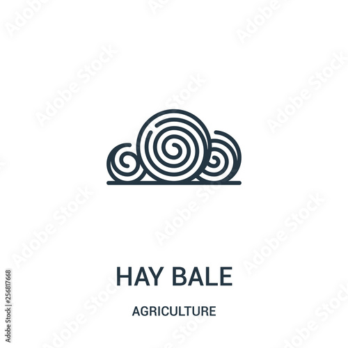Stampa su Tela hay bale icon vector from agriculture collection