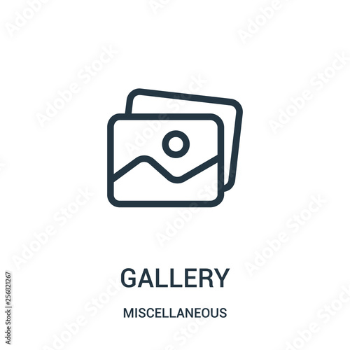 Photo gallery icon vector from miscellaneous collection