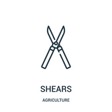 Shears Icon Vector From Agricu...