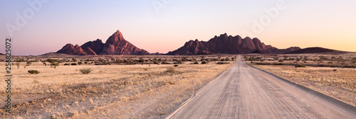 Road towards the Spitzkoppe, Namibia.