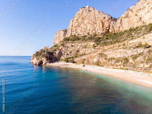 Tela Moraig cove beach in Benitatxell, Alicante, Spain