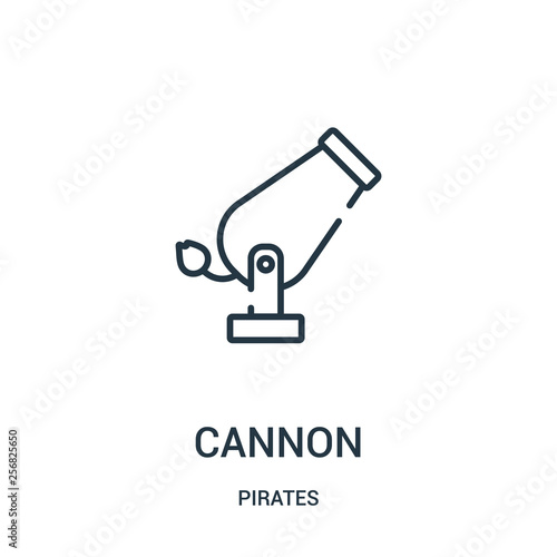 Obraz na plátne cannon icon vector from pirates collection