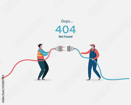 404 error page not found System maintenance for landing page. Fototapeta