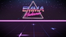 First Name Emma In Synthwave Style