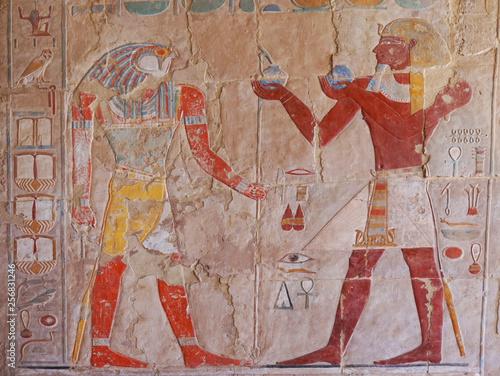 Recess Fitting Egypt hieroglyph in temple of queen hatsepsut