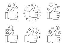 Like Linear Icons Set