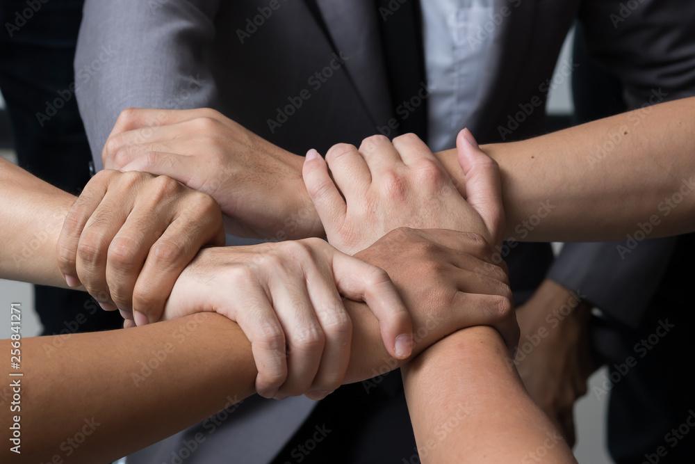Fototapeta Hands were a collaboration concept of teamwork