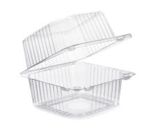 Open Empty Transparent Plastic...